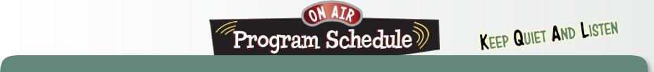 On Air Program Schedule