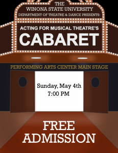 Musical Theatre Cabaret @ Performing Art's Center - Main Stage WSU Campus | Winona | Minnesota | United States