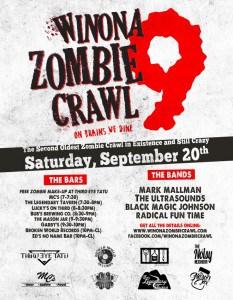 Winona Zombie Crawl 9 @ Downtown Winona | Winona | Minnesota | United States
