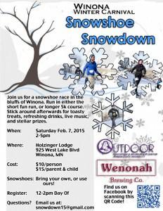 WSU Snowshoe Snowdown @ Holzinger Lodge | Winona | Minnesota | United States
