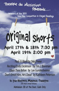 Theatre du Mississippi Presents - Original Shorts @ Masonic Theater | Winona | Minnesota | United States