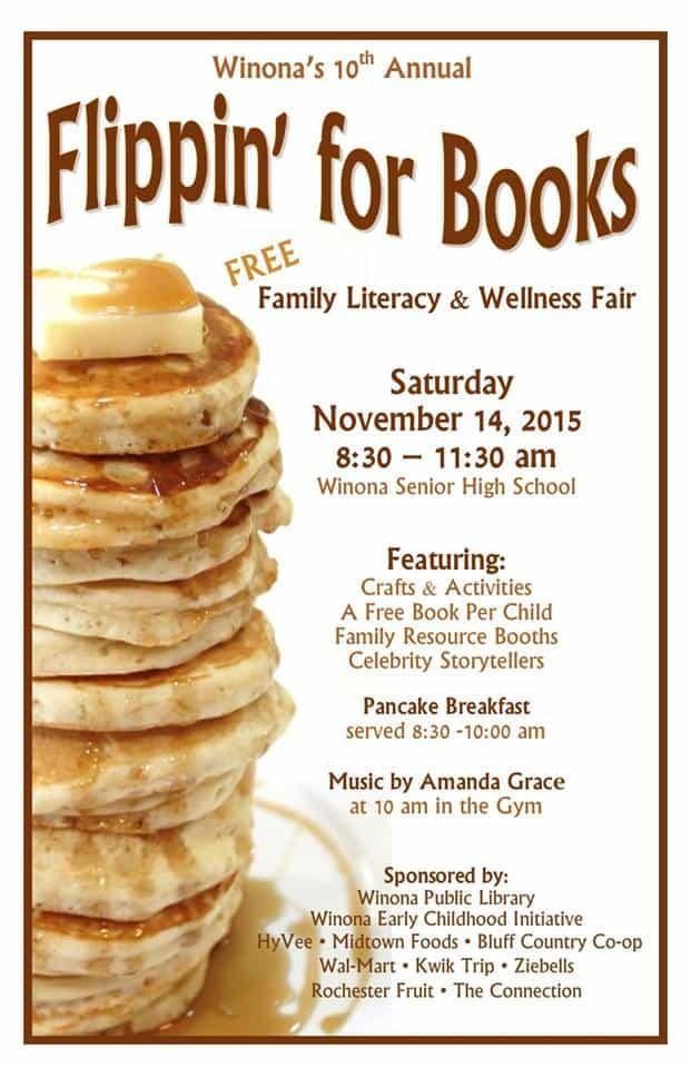 Flippin' for Books @ Winona Senior High School | Winona | Minnesota | United States