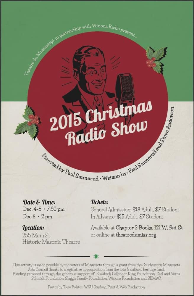 2015 Christmas Radio Show @ Theatre du Mississippi | Winona | Minnesota | United States