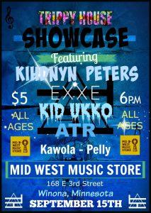 Hip Hop Showcase w/Kihndyn Peters, Exxe, Wax Edikit, Kid Ukko, Kawola &  Pelly @ Mid West Music Store  | Winona | Minnesota | United States