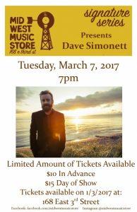 Dave Simonett @ Mid West Music Store  | Winona | Minnesota | United States