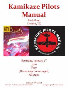 Kamikaze Pilots Manual @ Mid West Music Store | Winona | Minnesota | United States