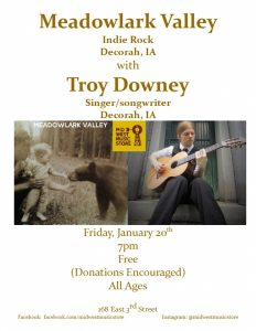 Meadowlark Valley with Troy Downey @ Mid West Music Store  | Winona | Minnesota | United States