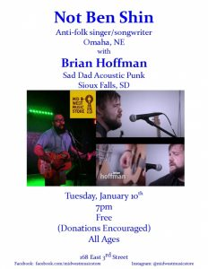 Not Ben Shin with Brian Hoffman @ Mid West Music Store  | Winona | Minnesota | United States
