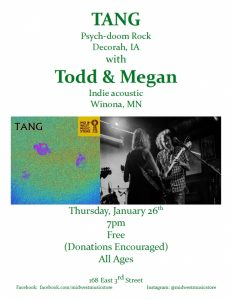 TANG with Todd & Megan @ Mid West Music Store  | Winona | Minnesota | United States