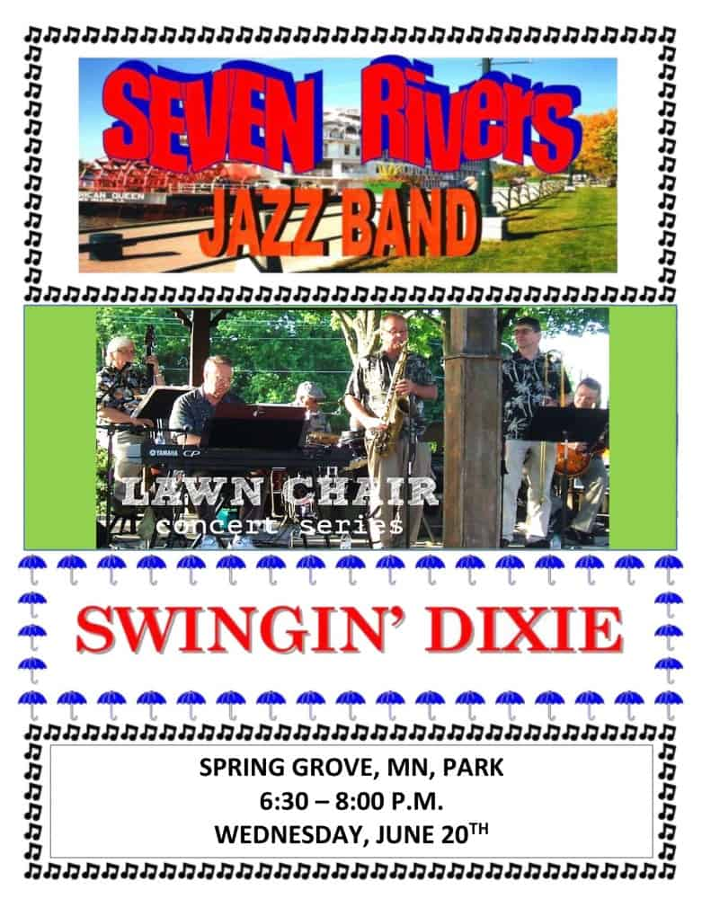 Seven Rivers Jazz Band in the Park @ Spring Grove Park | Spring Grove | Minnesota | United States